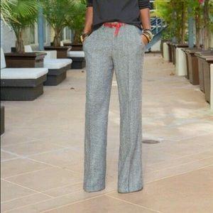 Lauren 100% wool lined herringbone pants 14